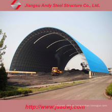 High Quality Long Span Space Frame Dry Coal Storage Shed Project